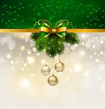 christmas decoration ball lob pine vector