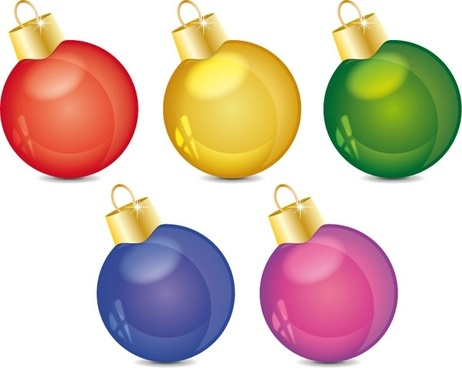 christmas decoration ball vector