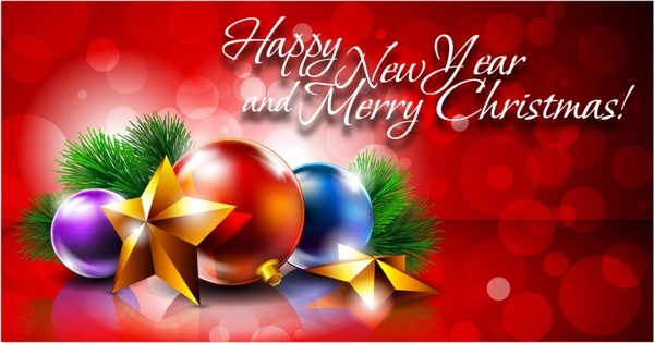 christmas decoration balls vector background