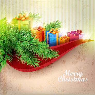 christmas decoration elements backgrounds art vector