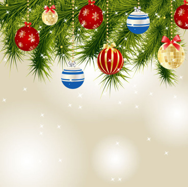 christmas decoration elements backgrounds art vector