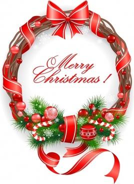 christmas decoration ribbon candy vector