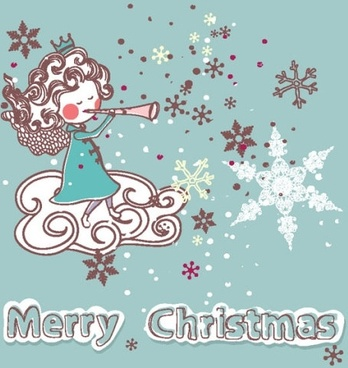 christmas decoration stickers 02 vector