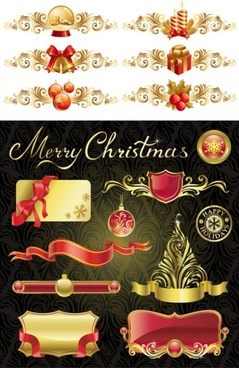 christmas design elements 01 vector