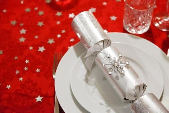 christmas dining setting