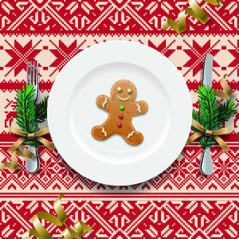 christmas dining table background