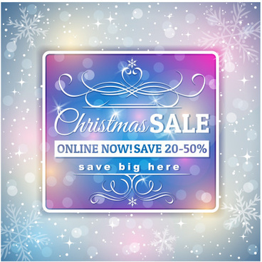 christmas discounts with big sale background