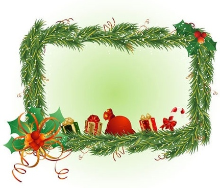 christmas element border 02 vector