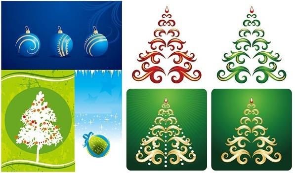 christmas element vector