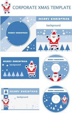christmas element vector templates