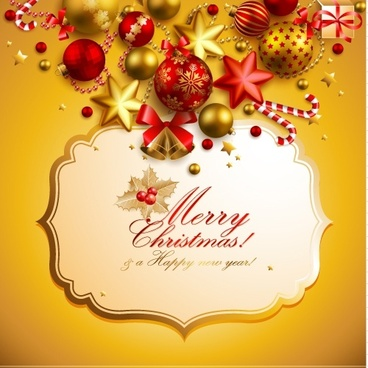 christmas elements background 03 vector