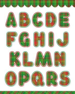 christmas english fonts 01 vector
