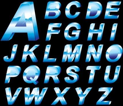 christmas english fonts 02 vector