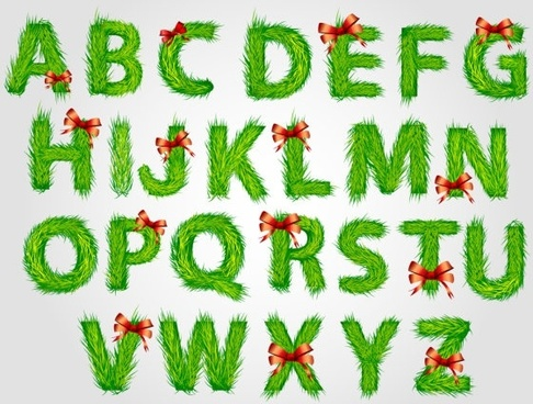 christmas english fonts 03 vector