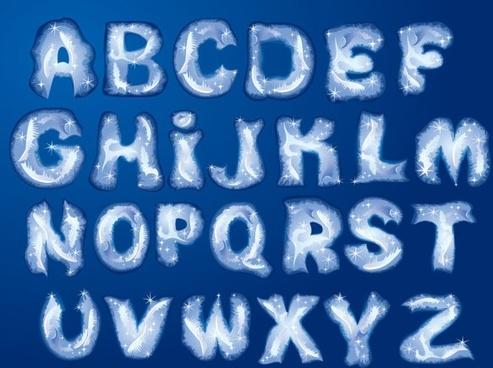 christmas english fonts 05 vector
