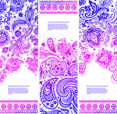 christmas ethnic pattern banner vector