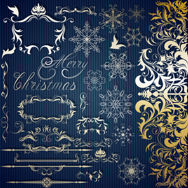 christmas frames with decor design vector