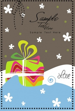 christmas gift background vector illustration cartoon