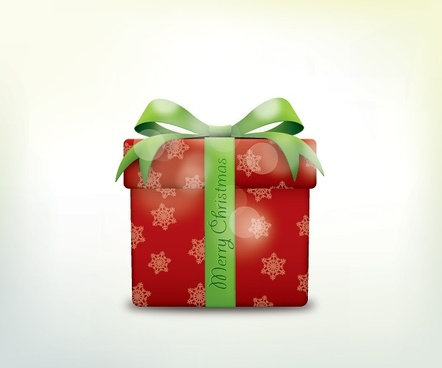 christmas gift box icons vector
