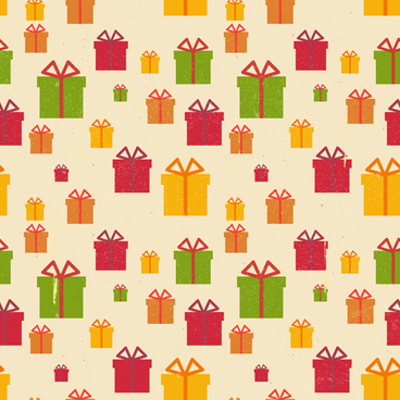 christmas gift box vector seamless pattern vector