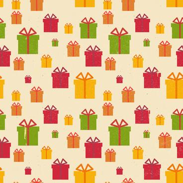 christmas gift box vector seamless pattern vector