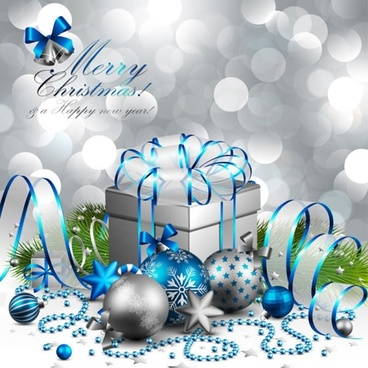 christmas gift boxes gift background vector illustration
