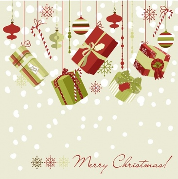christmas gift ornaments snowflake vector