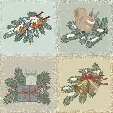 christmas gift vector elements