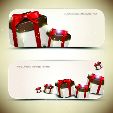 christmas gifts elements art vector graphic