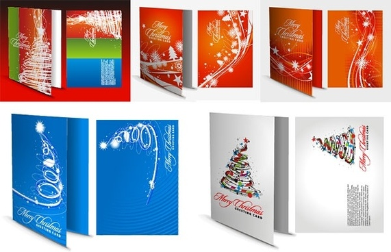 Christmas Greeting Card Template Vector