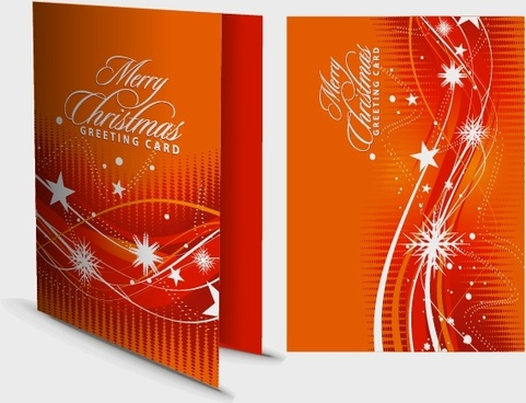 christmas card template snowflakes stars motion decor