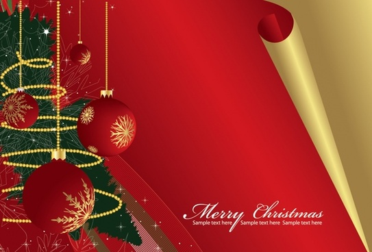 xmas banner colorful bauble balls decor 3d design
