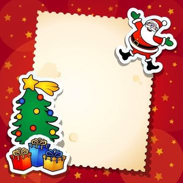 christmas greeting santa claus vector elements