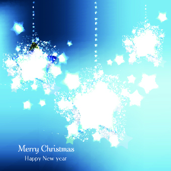 christmas grunge star vector background