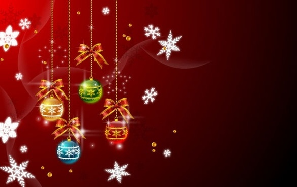 christmas hanging balls vector 2