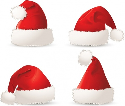 Christmas hats christmas vector
