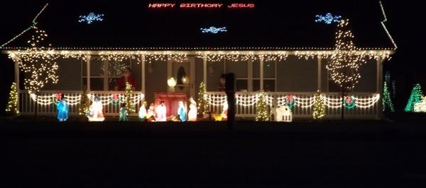 christmas holiday light display