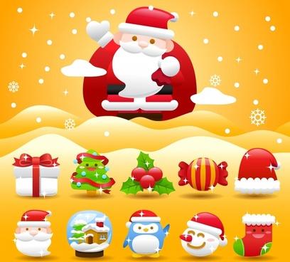 christmas holiday santa claus vector