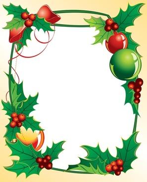 christmas holly vector