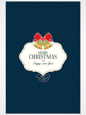 christmas label with dot pattern vector