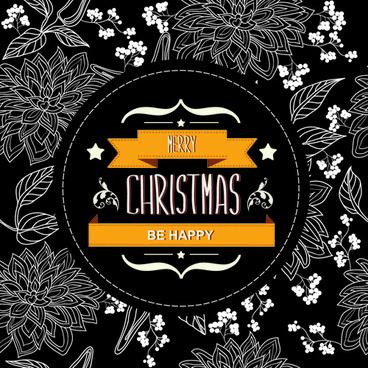 christmas labels frame vector background