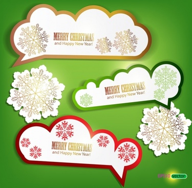 christmas labels vector label stickers