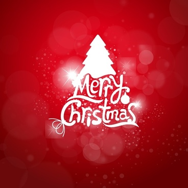 christmas light greeting card vector background