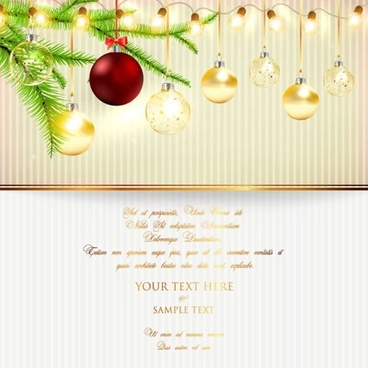 christmas lights background lob vector