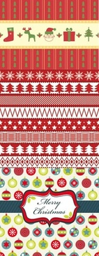 christmas pattern classical flat colorful repeating decor