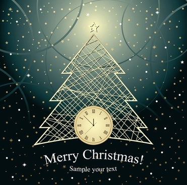 christmas lines background vector