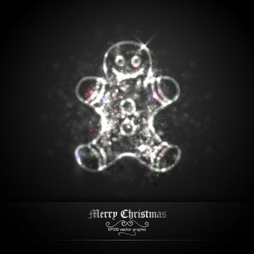 christmas little doll vector