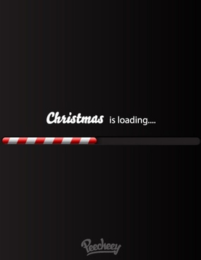 christmas loading bar
