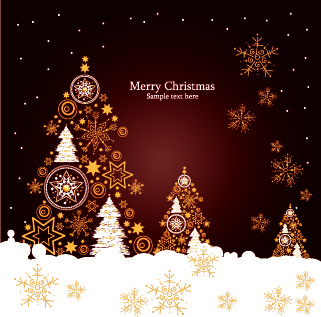 christmas luxury decor elements vector background