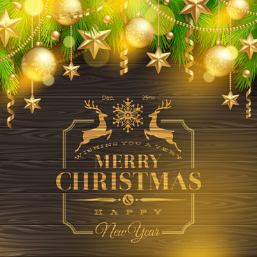 christmas message text background vector